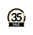 discount card with 35 percent sale advertising vector image vector image