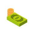 ecommerce business internet money banknote and vector image