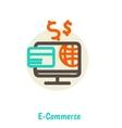 Flat design concepts of online payment methods vector image vector image