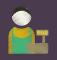 flat icon in shading style cashier vector image vector image