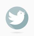 flying bird flat icon vector image