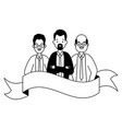 group team business men characters vector image vector image