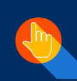 hand sign white icon on vector image vector image