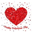 Happy Valentines Day poster or card template Big vector image