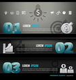 Infographic shelf modern design 3d template vector image vector image