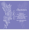 invitation White butterfly pattern vector image vector image