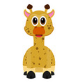 isolated cute giraffe vector image vector image