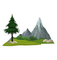 isolated nature landscape vector image vector image