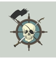 Label pirate theme vector image vector image