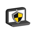 laptop security icon vector image