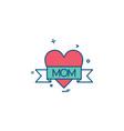 love mom icon design vector image vector image