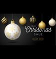 luxury christmas sale horizontal banner christmas vector image vector image