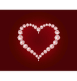 luxury diamond heart vector image vector image