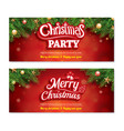 merry christmas invitation party poster banner vector image vector image