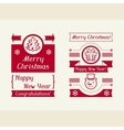Merry Christmas invitation typographic design vector image vector image