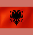 national flag albania for sports competition vector image vector image