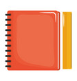 notebook school supply with rule vector image vector image