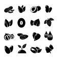 Nut and seed black icon vector image vector image