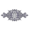 Ornated silver vintage decor with heraldic shield vector | Price: 1 Credit (USD $1)