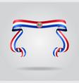 paraguayan flag wavy ribon background vector image vector image