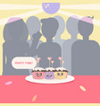 party time kawaii background vector image vector image