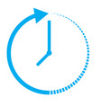 passage of time icon on white background vector image vector image