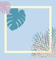 pastel tropical garden picture frame vector image