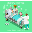 Patient Visit 04 People Isometric vector image vector image