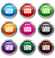 photocamera set 9 collection vector image vector image