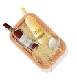 picnic basket with bottles red and white wine vector image
