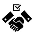 political hand shake icon simple style vector image