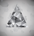 Polygonal triangle background vector image vector image