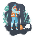 profession - street cleaner vector image vector image