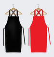 red and black aprons apron mockup clean apron vector image vector image