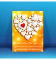 romantic amour flyer vector image vector image