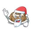 santa bundt cake mascot cartoon vector image vector image