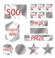 scratch games cards with effects scrape vector image vector image