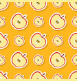 seamless pattern with apple vector image