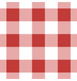 seamless white dark and bright red tartan vector image