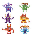 set of cute funny characters troll bigfoot vector image