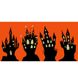 Set of halloween black castle vector image vector image