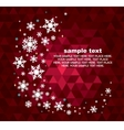 set of snowflakes background vector image vector image