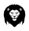 sign a black lion vector image