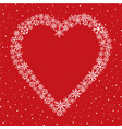 snow heart frame christmas winter holiday vector image vector image