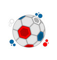 soccer ball with the colors of france vector image
