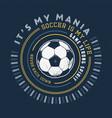 soccer mania handmade vector image