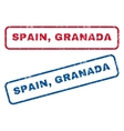 Spain Granada Rubber Stamps vector image vector image