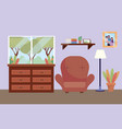 studying room icon vector image