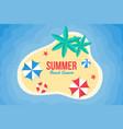 summer background flat design on beach vector image