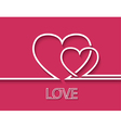 Two heart for greeting card design vector image vector image